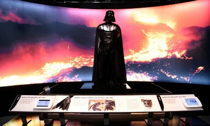 Darth Vader at Star Wars and the Power of Costume Exhibit