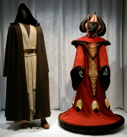 Obi Wan and Amidala at Star Wars and the Power of Costume Exhibit