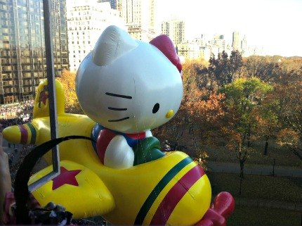 Hello Kitty Balloon at the Macy's Thanksgiving Day Parade