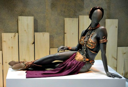 Leia's bikini at Star Wars and the Power of Costume Exhibit