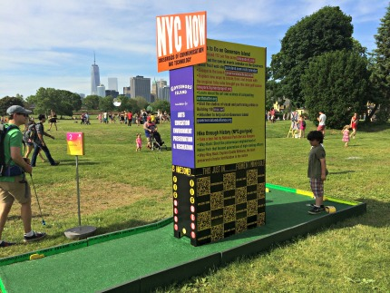 Figment mini golf Governors Island