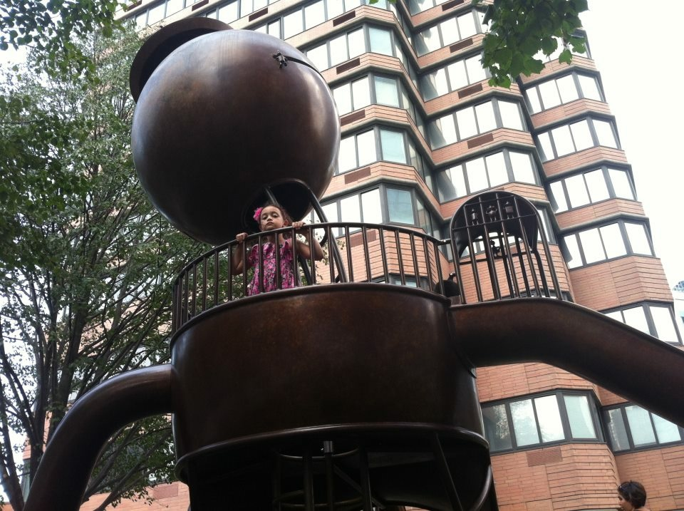 Silver Towers Playground Tom Otterness Sculpture