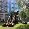The awesome Tom Otterness play structure at Silver Towers Playground