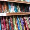 Colorful sari fabrics