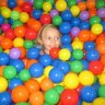 There are plenty of sensory experiences at this play gym, including a ball pit
