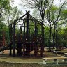 Fort Washington Park Playground: Sprinklers, a Rope Pyramid & Zip-Lining in Washington Heights