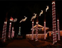 Christmas Light Displays and Dazzling Holiday Decorations around Orange County