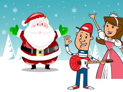 Santa Cruise starring Princess Katie & Racer Steve
