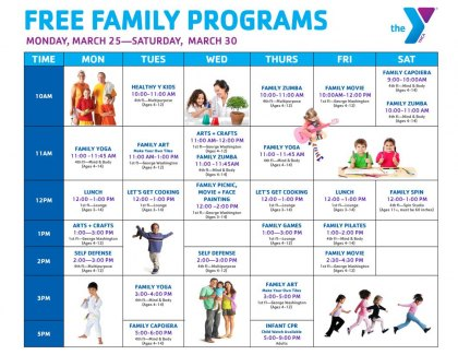 Free family activities at the west side ymca mommy for Nyc kids activities today