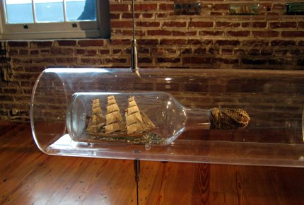 """Bottled Up"" - Amazing miniature ships in glass bottles"