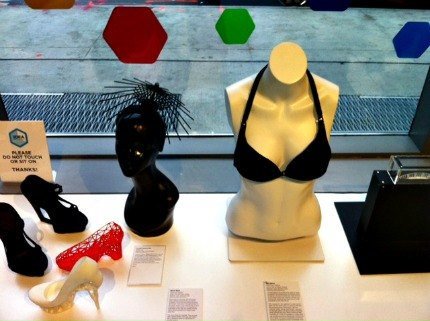 Products all created via 3D printer. Yes, even the bra!