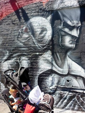 My older daughter loved this Batman mural