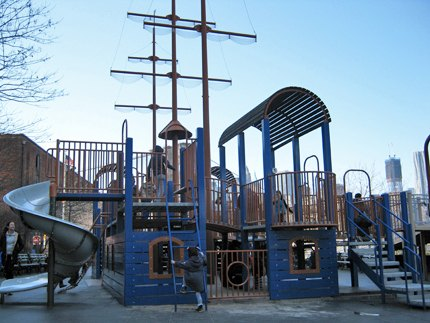 Main Street Playground has a nautical theme