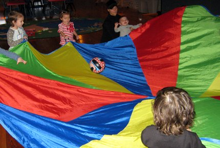 Parachute games are always a hit