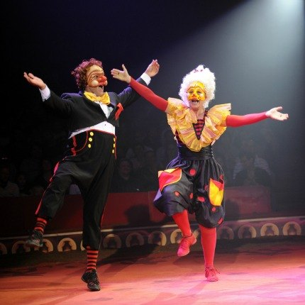The hilarious Acrobuffos of Big Apple Circus. Photo courtesy of the Big Apple Circus