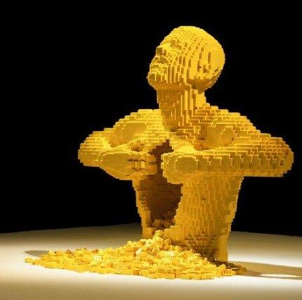 "Lego artist Nathan Sawaya's signature work ""Yellow"""