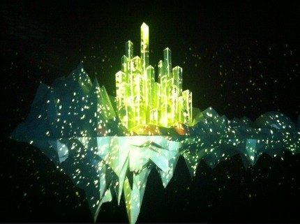 Floating City, which is created by real-time 3D mapping and light projections
