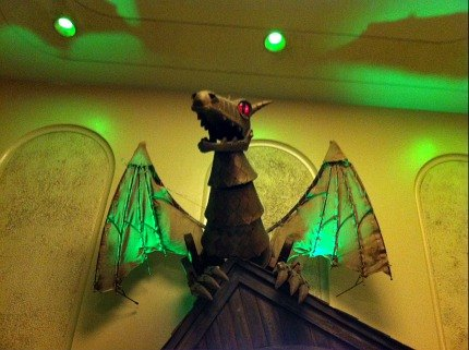 A model of the iconic dragon