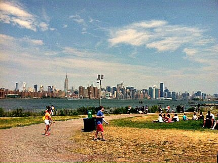 After you pick up your food, picnic in East River State Park and enjoy incredible views of Manhattan