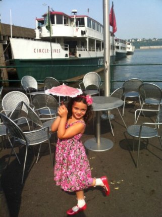 Getting ready to party aboard a Circle Line Kids' Cruise