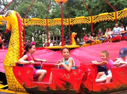 The red dragon carousel is the most thrilling ride hands-down, and probably too fast for most young kids