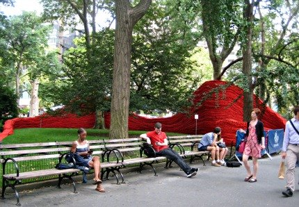 Red, Yellow and Blue in Madison Square Park