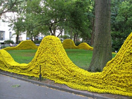 The Yellow section in Madison Square Park