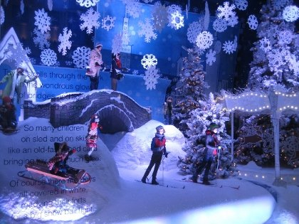 A snowy NYC Christmas at Lord & Taylor
