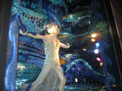 An underwater world at Bergdorf Goodman