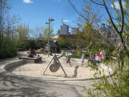 The inviting Sandbox Village at Pier 6
