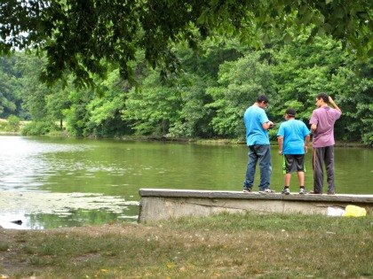 Catch-and-release fishing at Willowbrook Lake