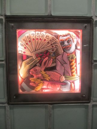 One of the intricate light boxes from Toby Buonagurio's Times Square Times: 35 Times