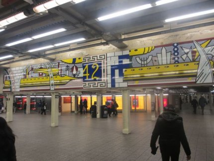 Roy Lichtenstein's kinetic Times Square Mural
