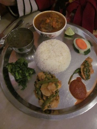 Farsee goat thali is a kid-friendly dish
