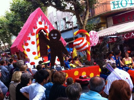 The Digne les Bains parade floats are famous in the region