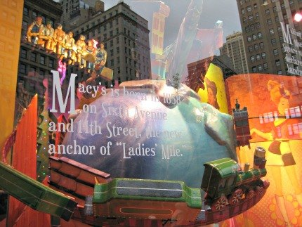 Iconic NYC scenes at Macy's