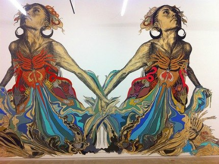 Wall mural by Swoon