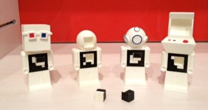 Miniature robots created with a 3D plastic printer