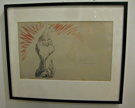 My son loved this original pencil sketch of the Grinch