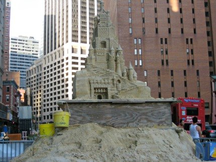 Matt Long's incredible 16-foot sand castle near South Ferry