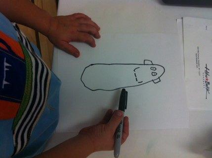 First step in batik: sketch your design