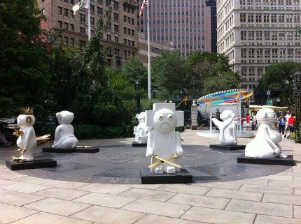 The Humans, part of Lightness of Being in City Hall Park