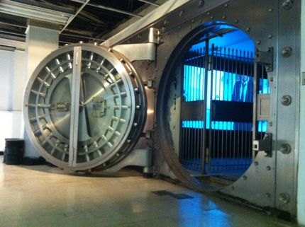 We loved checking out the underground bank vault