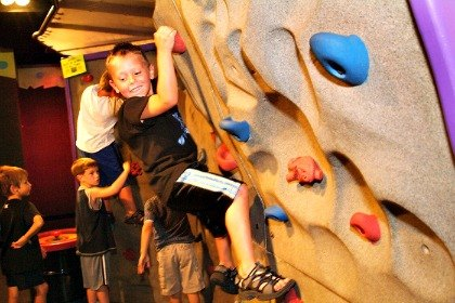 Scale the rock wall at Brooklyn Children's Museum's Big Adventure