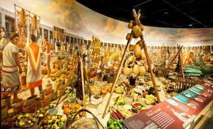 An ancient Aztec marketplace at AMNH's Global Kitchen; photo: D. Finnin