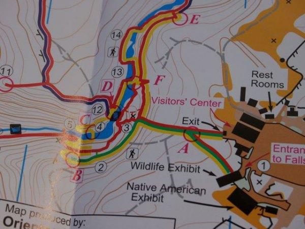 Multiple trails offer options for shorter or longer hikes