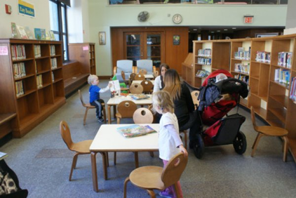 Small tables and chairs for young readers