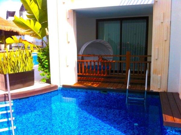 or a swim-up suite