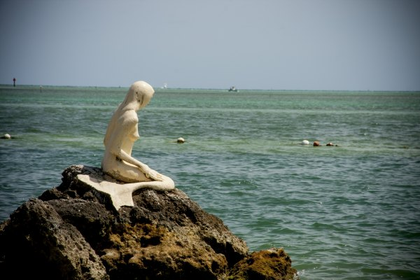 A mermaid taking in the Atlantic.