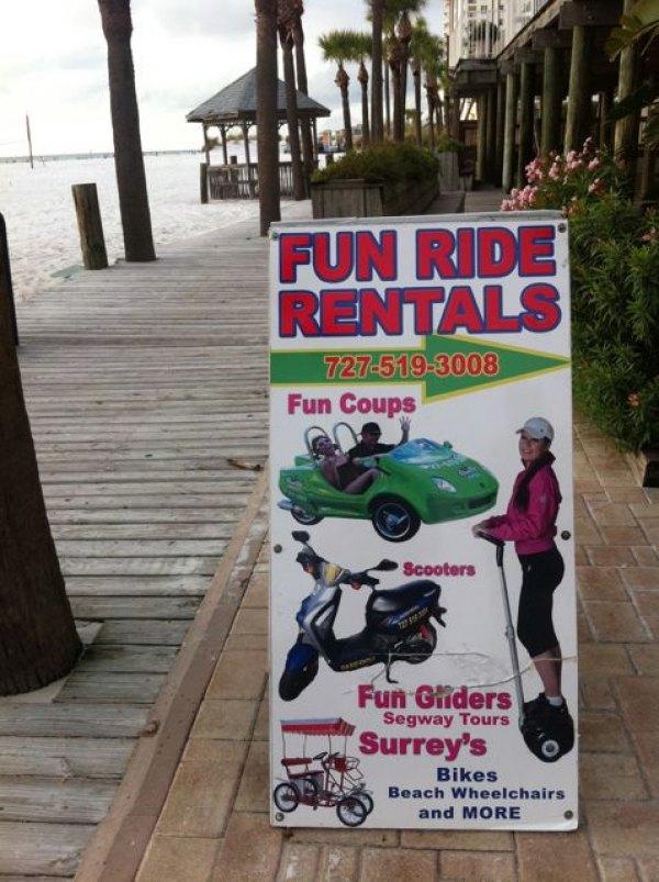 Run Ride rentals at the Hilton